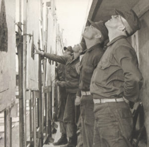 Vietnam veteran and Cecil County resident Al Louthian waits during a cease fire to change targets on a qualification range with other firing relay squad members at Marine Corps boot camp at Parris Island, South Carolina in 1966. | Courtesy photo
