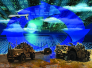 The CERDEC Integrated Cyber and Electronic Warfare, or ICE, program looks to leverage both cyber and Electronic Warfare capabilities as an integrated system to increase the commander's situational awareness. CERDEC is focusing its science and technology efforts on researching solutions to address specific cyber and Electronic Warfare threats and developing the architecture onto which scientists and engineers can rapidly develop and integrate new more capable solutions.   U.S. Army CERDEC illustration
