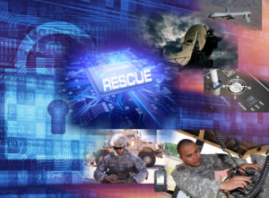 CERDEC is developing the REprogrammable Single Chip Universal Encryptor, or RESCUE, which will be a common chip that will provide cryptographic services to a wide variety of communications devices such as radios, satellites and computers as well as unmanned air and ground systems that use or transmit encrypted information.   U.S. Army CERDEC graphic)