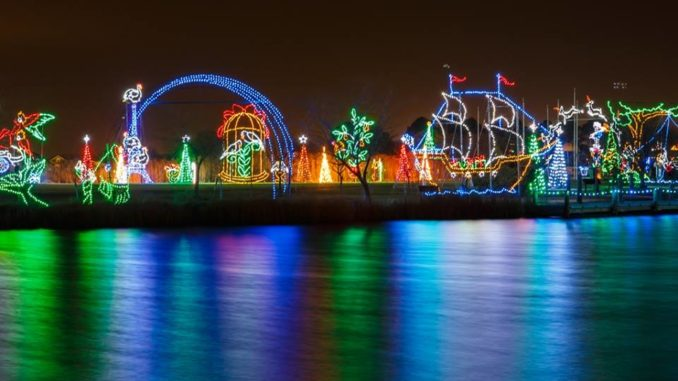 ocean citys winterfest of lights features the winterfest express a train that takes guests on a ride through spectacular light displays - Local Christmas Light Shows