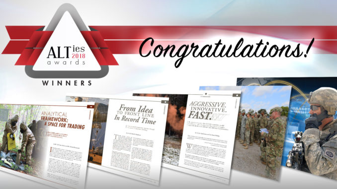 Army AL&T Magazine announces winners of 2018 ALTies - APG News